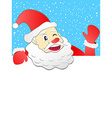 santa holding with signboard vector image vector image