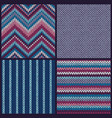 seamless knitted pattern set color backgrounds vector image vector image