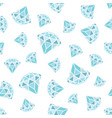 seamless pattern of geometric blue diamonds on vector image vector image