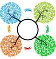 Seasons tree with arrows vector image vector image