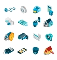 Security System Icons Set vector image vector image