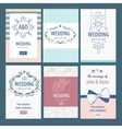 Set of template wedding invitations vector image vector image