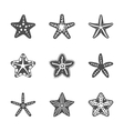 shape set of various sea starfish vector image vector image