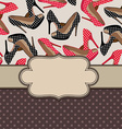 Shoes frame with border vector image