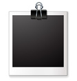 Single blank photo vector image