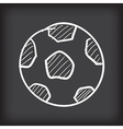 soccer ball free hand doodle vector image