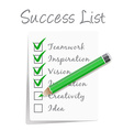 success check list vector image vector image