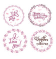 valentine s day hand drawn calligraphy and vector image vector image