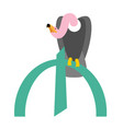 Vulture and azerbaijani manat symbol money vector image