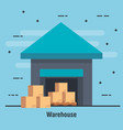 warehouse delivery service icon vector image