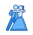 wedding dance line icon vector image