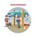 car maintenance service concept vector image