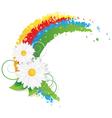 Chamomiles and rainbow vector image
