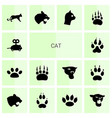 14 cat icons vector image vector image