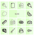 14 slice icons vector image vector image