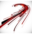 Abstract black and red perspective background vector image vector image