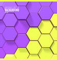 abstract bright honeycomb design background vector image vector image
