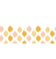 abstract golden ogee horizontal border seamless vector image vector image