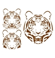 abstract tiger head set vector image vector image