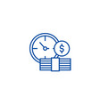 bank deposit line icon concept bank deposit flat vector image vector image