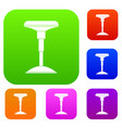 bar stool set color collection vector image vector image