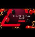 black friday sale modern horizontal discount vector image