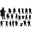 Black gangster silhouette vector image vector image