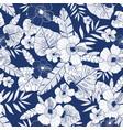 blue drawing tropical summer hawaiian vector image