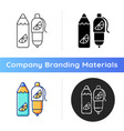 branded pens and pencils icon vector image vector image