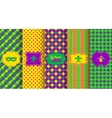 Bright abstract mardi gras pattern set vector image vector image