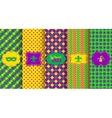 bright abstract mardi gras pattern set vector image vector image