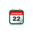 calendar icon for mobile application vector image vector image