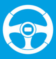 car steering wheel icon white vector image vector image