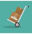 cardboard box cargo shipping design isolated vector image vector image