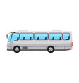 city public bus with flat and solid color style vector image