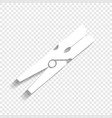 clothes peg sign white icon with soft vector image vector image