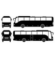 coach bus black icons vector image vector image
