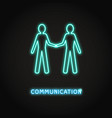 communication concept neon icon in line style vector image