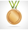 copper medal with ribbon vector image vector image