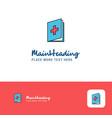 creative medical book logo design flat color logo vector image