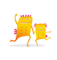 dancing fictional characters parent and kid vector image vector image