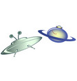 emoji funny emoticons in the form of ufo and vector image