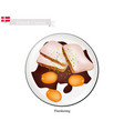 flaeskesteg or roasted pork the danish national d vector image vector image