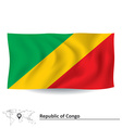 Flag of Republic of Congo vector image vector image