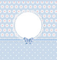 floral romantic blue background vector image vector image