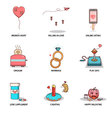 fun and cute love collection vector image vector image