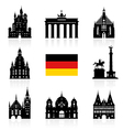 Germany Berlin travel landmark icon vector image vector image