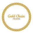 golden chain round border frame seamless wreath vector image