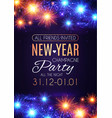 happy hew year poster template fileworks lights vector image vector image