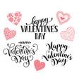 happy valentine day phrases vector image vector image